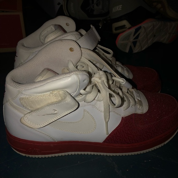 Nike Other - mens high tops white and red nike air forces
